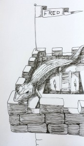 Drawing_lizard_on_Tower